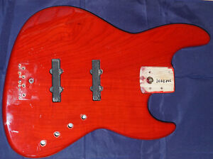 Fender Japan Jazz Bass Body Esche Korpus - 1988 rar - Pro Feel JBR 800 Trans Red