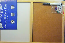 Half & Half Cork & White Message Board 30 cm x 45 cm slightly larger than A3