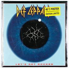 DEF LEPPARD - Let's Get Rocked - 1992 SP scellé / sealed 45 tours + Poster