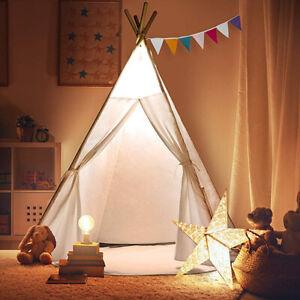 Large Canvas Children Indian Tent Teepee Wigwam Kid Indoor Outdoor Play House UK