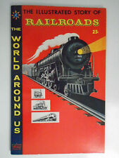 World Around Us #4 Classics Illustrated Story of Railroads, Fine, 6.0, White Pgs