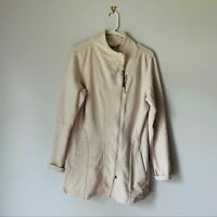 The North Face Women's Size XL Asymmetrical Zip Thumb Hole Khaki Hiking Sweater