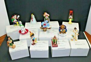 Disney Christmas Magic Lot of 11 Ornaments w/ Boxes