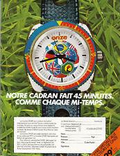 Publicité ancienne montre 1976  issue de magazine