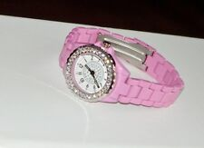 SPLENDID~PINK AUSTRIAN CRYSTAL LADIES WRIST WATCH