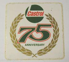 VECCHIO ADESIVO AUTO MOTO / Old Sticker 1974 CASTROL 75° ANNIVERSARY (cm 9 x 9)
