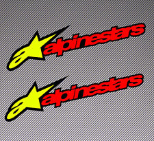 2 Alpinestars Astar Vinyl Sticker Auto Moto GP Bike Car Helmet Race Tuning B 256