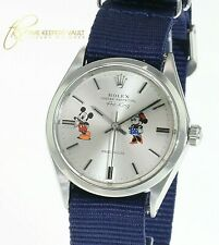 Rolex  Airking Oyster Perpetual  Watch Mickey Silver  Dial 34mm Watch