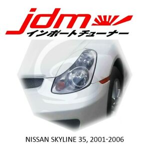 For Infiniti G35 V35 Eyebrows Eyelids Eye Line 2002-2006 Sedan 4D 2pcs Skyline