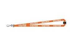 Orange Visitor Lanyard - Access Security Control