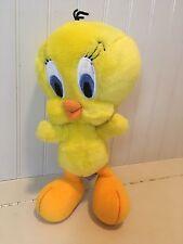 "1995 TWEETY Bird Warner Bros STUDIO Store 12"" Plush Looney Tunes Wire Legs Arms"