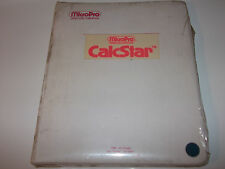 MICROPRO CALCSTAR V1.2 USERS MANUAL DISKETTES VINTAGE 1981 COLLECTIBLE UNOPENED