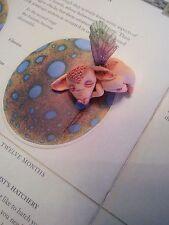 handsculpted polymer clay dragon fairy sprite magical creature mythological