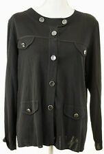 Exclusively MISOOK Black Cardigan Sweater - Large