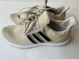 Adidas Ultraboost 4.0 BB6177 Chalk Gray Black Sneakers Running Shoes Men's Sz 10