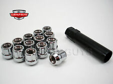 24 Chrome Bulge Acorn Wheel Lug Nuts for Ford Expedition F-150 M14x2.0mm nc