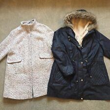 2 Ladies Warm Coats M&S Grey & Tu Blue Size 18