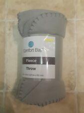 Fleece Throw Blanket Gray 50x60in by Comfort Bay New