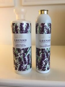 Marks Spencer Large Size Lavender Talc And Bath Cream