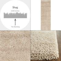 california shag beige 2 ft. x 5 ft. runner rug | safavieh collection premium