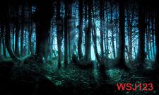 Halloween forest vinyl background backdrop studio photography props 7X5FT WSJ123