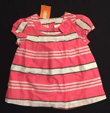 Gymboree NWT Girls Posh and Playful Pink Striped Swing Top Size 12-18 M