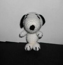 "Handmade Crocheted Amigurumi Peanuts Snoopy  4 1/2"" Tall  by The Knitting Gnome"