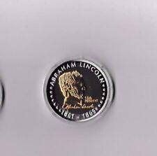 Präsidenten der USA@Abraham Lincoln 1861-1865@Medaille mit Gold /Silber Auflage