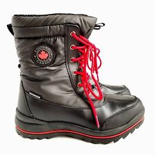 Cougar Canada Lace Up Winter Boots Womens 7M Waterproof Black Excellent Clean