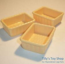 Playmobil        Wicker Style Basket x 3  for Animal Clinic/Pets/Shop -  NEW