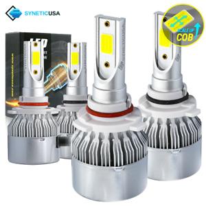 9005+9006 LED Combo Total Headlight Kit Light Bulbs Hi Low Beam 6000K 450000lm