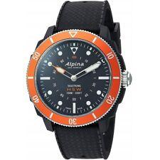 Alpina Men's Smartwatch Seastrong Horological Black Dial Strap AL-282LBO4V6