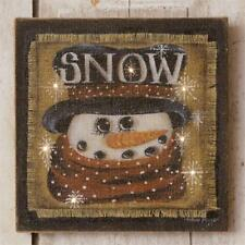Snowman new rustic Led Wall Hanging