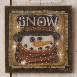 Snow snowman Led canvas Wall Print