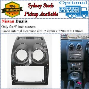 For 9 Nine Inch Screen Fascia facia Fits Nissan Dualis Dash Kit*