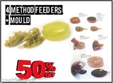 4 Method Feeders + Mould RRP £7.99