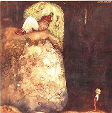 John Bauer Postcard Boy & Green Haired Troll Mother Sweden