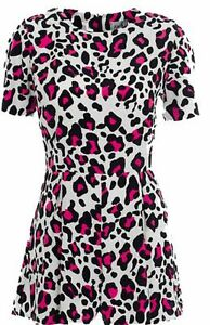 JOHN ZACK WHITE WITH RED LEOPARD PRINT  ALL IN ONE PLAY SUITE