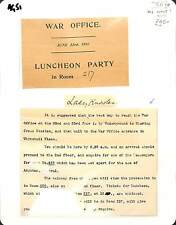 AG51 1911 GB London Military War Office Invitation/Lady Knowles Signature