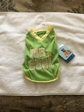Soft Touch Dog Shirt Extra Small Green/yellow New