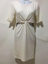 Asos off white cut out bodycon dress sz 6 nwt