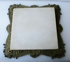"""VICTORIAN MARBLE + BRONZE TABLE TOP FRAME (ONLY) 14"""" square"""