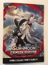 POKEMON SUN & MOON CRIMSON INVASION MINI COLLECTOR'S ALBUM - NEW