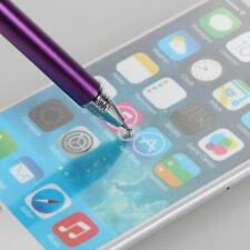Purple Fine Point Round Thin Tip Capacitive Stylus Pen For iPad iPhone Tablet