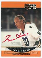 Gordie Howe Hartford Whalers Signed Autographed 1990 Pro Set Point Leader Card
