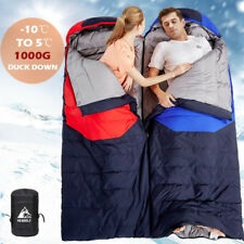 1000G Duck Down Single Sleeping Bag Thermal Outdoor Camping Hiking Tent 210x80cm