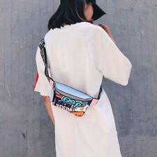 Fanny Pack Waist Bag Women Belt Bags Leather Graffiti Chest Handbag Colorful