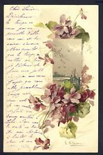 POSTKARTE Meissner & Buch Illustration Litho C. KLEIN BLUMENPRACHT Pully Genève