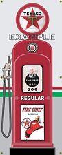 TEXACO REGULAR ANTIQUE RETRO GAS PUMP GAS STATION BANNER GARAGE SIGN ART 2 X 5