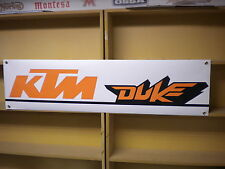 KTM DUKE Banner in PVC per uso garage/officina 690, 390, 125, 1290, ecc.